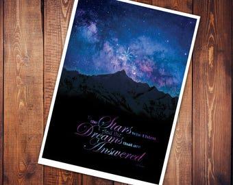Art Print - The Stars Who Listen