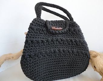 Handwoven Purse With Decorative Stitches