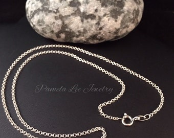 Sterling Silver 16 inch Rolo Chain