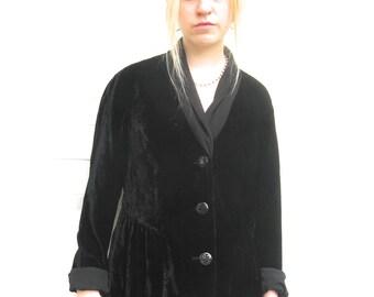 black velvet jacket . black velvet . J.Jill jacket . J.jill velvet jacket . size S
