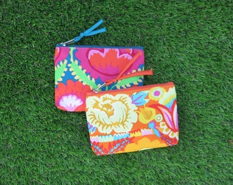 Kaffe Fassett Small Purse in Teal or Coral