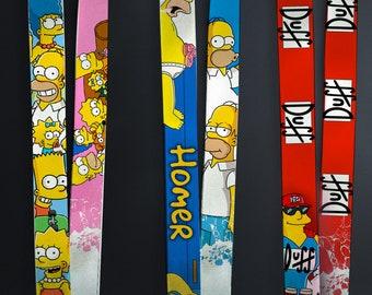The Simpsons Lanyard / Simpsons / Homer Lanyard /Marge lanyard / Lisa Lanyard / Bart lanyard / Krusty / Duff Man lanyard / LanyardMachine