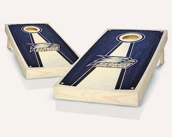 SALE - Georgia Southern Stained Pyramid Cornhole Set, Birthday, Tailgate, Bachelor Party Gift for Men, Husband, Boyfriend, Father, Son