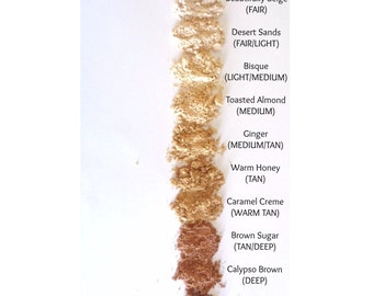 Mineral Foundation, premium & natural - SAMPLE size, pick any two