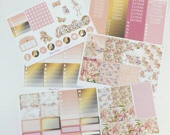 Spring Time in Paris Weekly Kit / Planner Stickers / Erin Condren Planner Stickers / Vertical