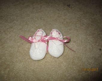 Hand Crochet Newborn Booties