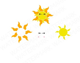 Sun Face Cutout Files for Cricut SVG and Silhouette Studio File Cut Out Stencil Decal Logo SVGS The Sun Face