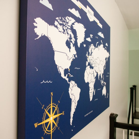 World travel map interactive family map mark the places like this item gumiabroncs Choice Image