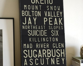 MADE TO ORDER Graphic Art TYPOGRAPHY collage on canvas  12 x 24 inches  LARGER SIZES AVAILABLE -CUSTOMIZE THIS PIECE