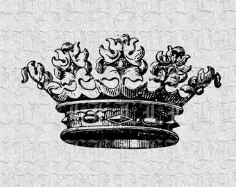 Queen Crown Vintage Clip Art Illustration Printable High Quality Image 199