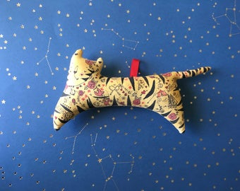 One left in stock - Miniature Tattooed Tiger - Circus Performer Ornament