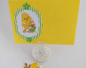 Scrapbooking handmade Happy Easter card