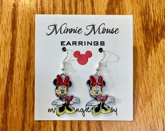 Minnie Mouse Earrings, Minnie Earrings