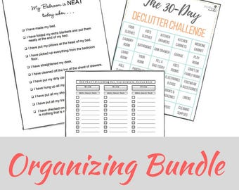 Organizing Worksheet Bundle
