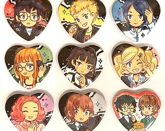 Persona 5 Heart Pins