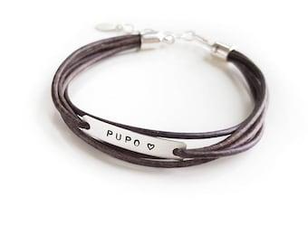 PUPO Armband, IVF Schmuck, Leder Wickelarmband Stil, Unfruchtbarkeit Schmuck, Faux Wickelarmband, Sterling Silber, IVF Geschenk, inspirierend