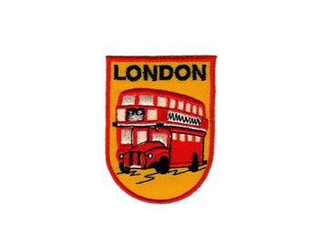 ad94 London coat of arms double decker bus patch travel country Biker ironing
