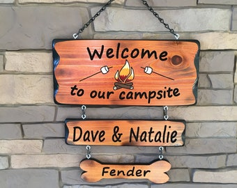 Camping Sign Fire and Mashmellows #009