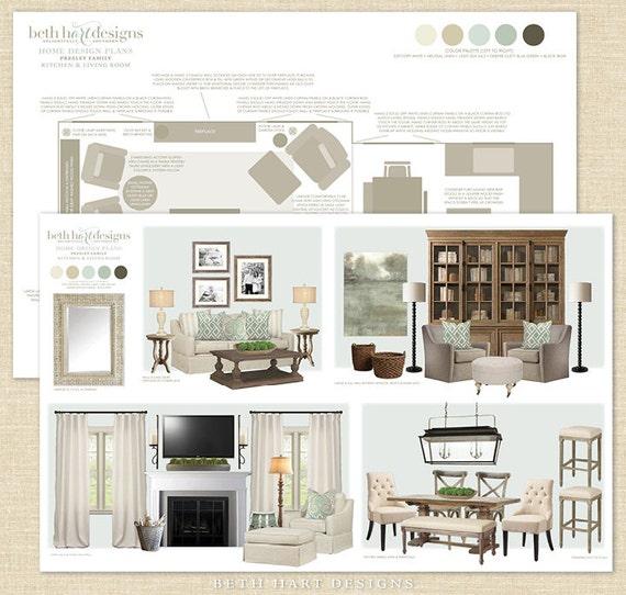 Custom Virtual Home Interior Design Plans / E Design Services Per Room /  Home Decorating Inspiration U0026 Planning From BethHartDesigns On Etsy Studio