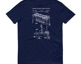 1961 Fender Steel Guitar Patent T Shirt - Musician Shirt, Fender T Shirt, Musician Gift, Steel Guitar T-Shirt, Fender Guitar Patent