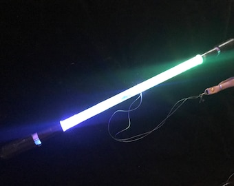 """New LED Micro Wand - Levitation Wand - Super balanced, fun size for flow & dance! The New Micro Crystalline 17"""""""
