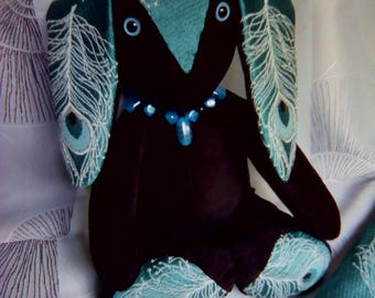 Peacock decor rabbit