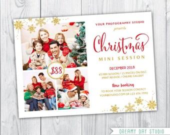 gold christmas mini session template / christmas mini template / christmas mini session template / christmas mini session / christmas mini