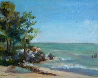 Leone Park Beach - Original Plein air Painting