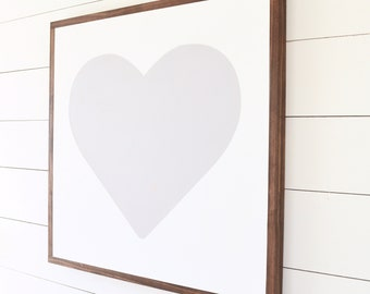 """HEART Painted Wood Sign 24X24"""" 