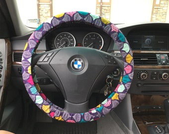 Organic Purple Steering Wheel Cover