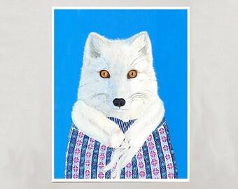 Art Print - Arctic Fox - Signed by Artist - 3 Sizes - S/M/L