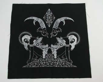 Witch Mountain Black Sew On Punk Back Patch