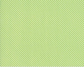 Scrumptious Stripe Green Basics by Bonnie and Camille from Moda -1 yard