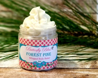 natural body butter   forest pine lotion   christmas body butter   whipped body butter   christmas lotion   moisturizing lotion   gifts