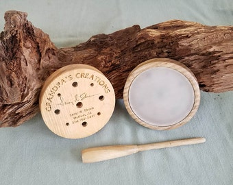 Turkey Call - Ash with glass over glass