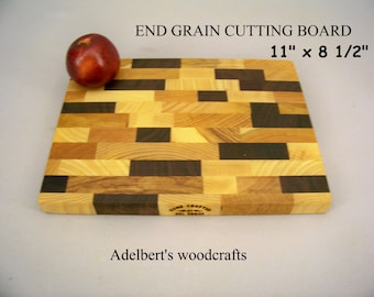 End Grain Cutting Board. Shipped by priority mail 2 to 3 days delivery.