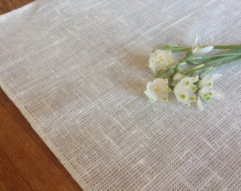 linen table runner / wedding table runner / linen tablecloth / white linen runner
