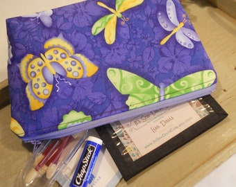 SPECIAL of the DAY - Large Flat Bottom--Padded Zipper Pouch