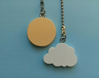 Sun and Cloud Ceiling Fan Pull Set