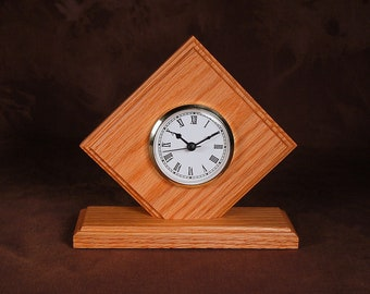 Oak Desk Clock