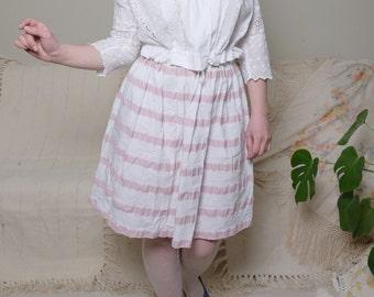 1900s 1910s Rare Antique blouse Vintage Snow white lace blouse Sailor collar Three quarter sleeve Romantic Crop blouse S M L / G1