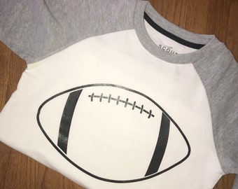 Custom Football T Shirt personalization available
