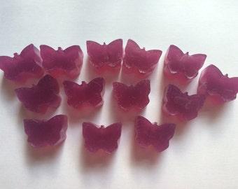 13 Handmade Mini Butterfly Soaps Wedding Favour Birthday Christening