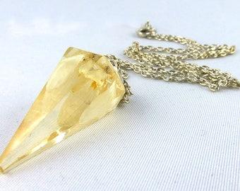 Necklace, resin, snowdrop, flower