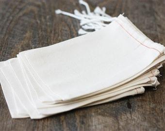10 Cotton Blend Muslin Bags (3x5). Supplies. Gift Wrap.