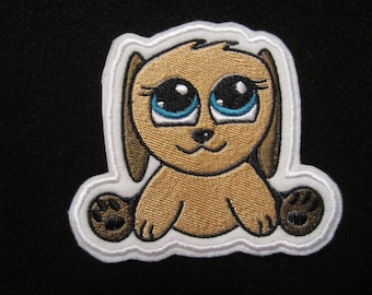 Embroidered Iron On Dog Patch, Dog Applique Patch, Iron On Patch, Puppy Dog Patch, Iron On Applique, Dog, Puppy