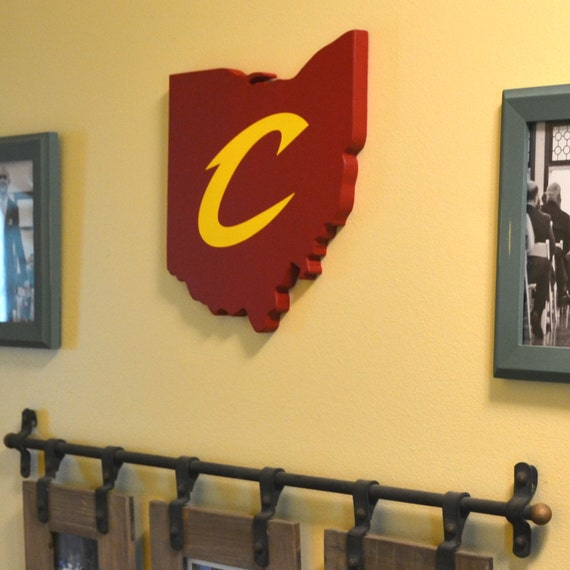 Cleveland Cavaliers Wall Art Handmade Wooden Cavs Sign