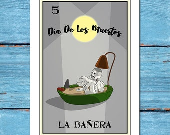 La Banera-Loteria 13x19 Art Print,loteria art,loteria print,art,home decor,fine art,giclee,digital print,dia de los muertos,day of the dead