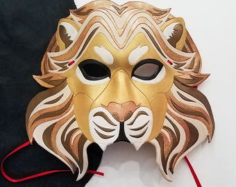 Leather Lion Mask - Made to Order