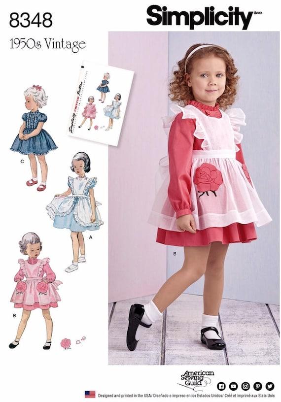 Sewing Pattern Girls\' Pinafore Dress Pattern, Vintage 1950\'s ...